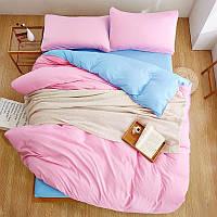 """Красивый комплект постельного белья Турция в подарочной упаковке Евро """"Малиновый закат"""""""