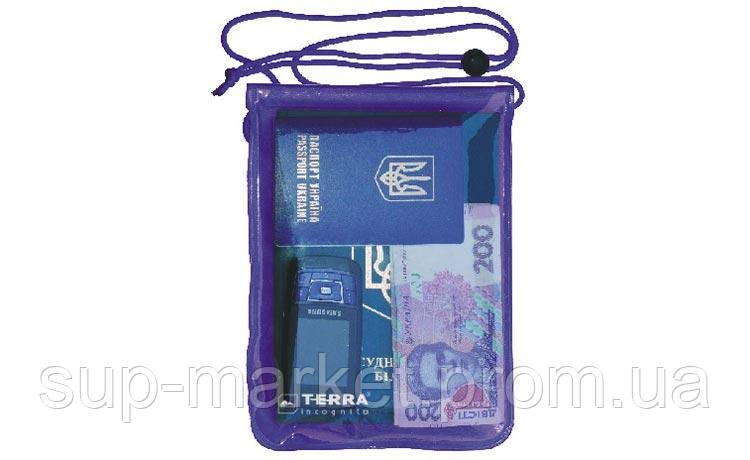 Гермочохол для документов Terra Incognita SafeCase, фиолетовый, S (12.5см x 18см)