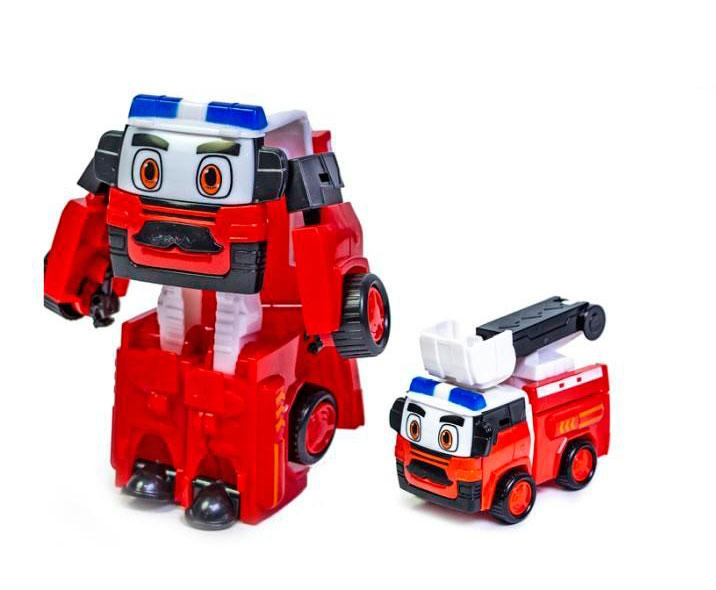 Машинка-трансформер Робокар Поли Красный (Рой) Robocar Poli sco sco