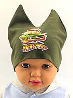 Оптом шапки с 42 по 46 размер трикотажная детская шапка головные уборы детские опт, фото 1