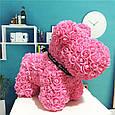 Собачка из 3D фоамирановых роз розовая, фото 2