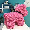 Собачка из 3D фоамирановых роз розовая, фото 3