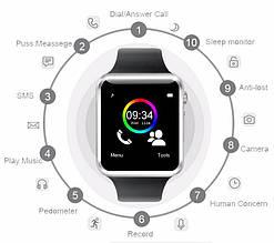 Smart Watch   Умные часы   Смарт часы A1 (выбор цвета)