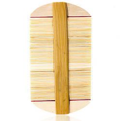 CLR-337 Деревянный гребешок карманный мелкозубый (уп.12)