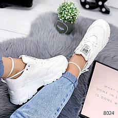 """Кроссовки женские """"Kolow"""" белого цвета из эко кожи. Кеды женские. Мокасины женские. Обувь женская, фото 2"""
