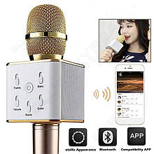 Микрофон караоке | Беспроводной микрофон | Bluetooth микрофон Q7 с чехлом (выбор цвета)