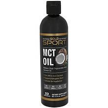 """Масло МСТ California Gold Nutrition, Sport """"MCT Oil"""" триглицериды средней цепи из кокосового масла (355 мл)"""