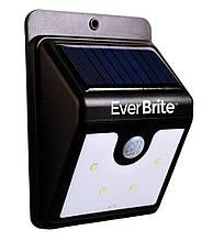 Уличный светильник | Светильник на солнечной батарее с датчиком движения EverBrite