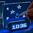 Цифровые часы   Часы настольные электронные с подсветкой и Led доской, фото 2