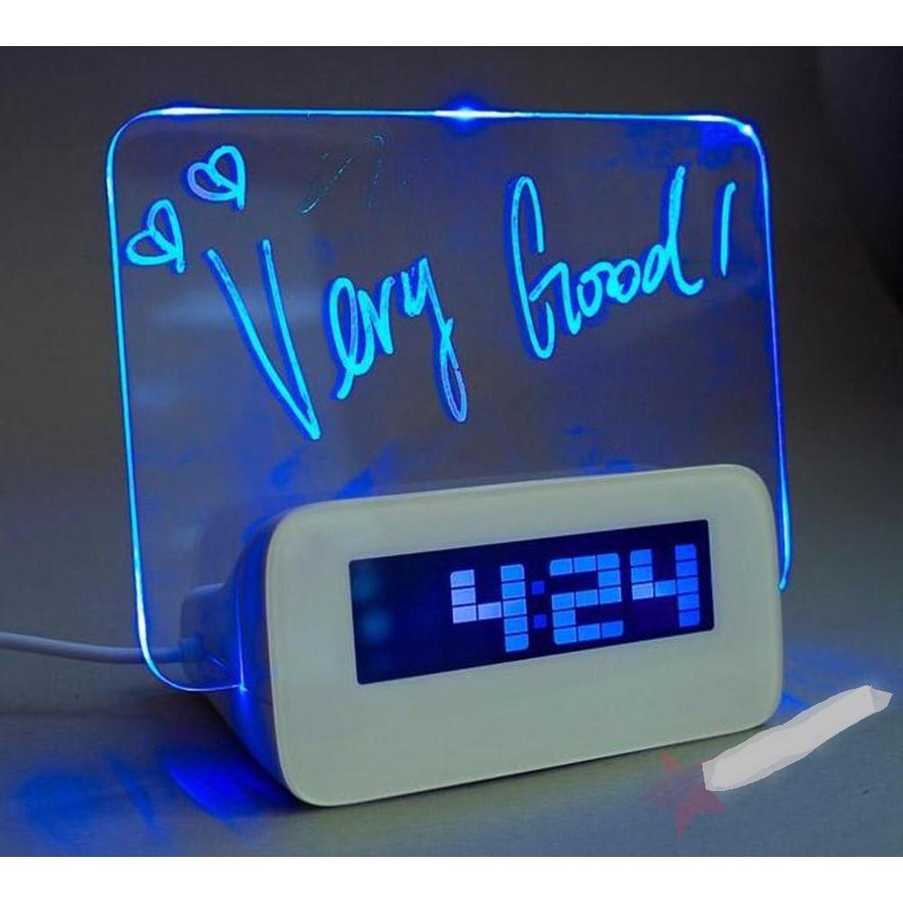 Цифровые часы   Часы настольные электронные с подсветкой и Led доской