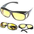 Антибликовые очки | Очки для вождения ночного видения HD vision Glasses 2 в1, фото 3