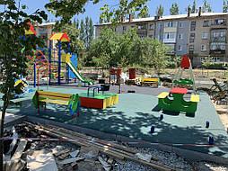 Покрытие для детской площадки г. Николаевка, Донецкая обл. 9