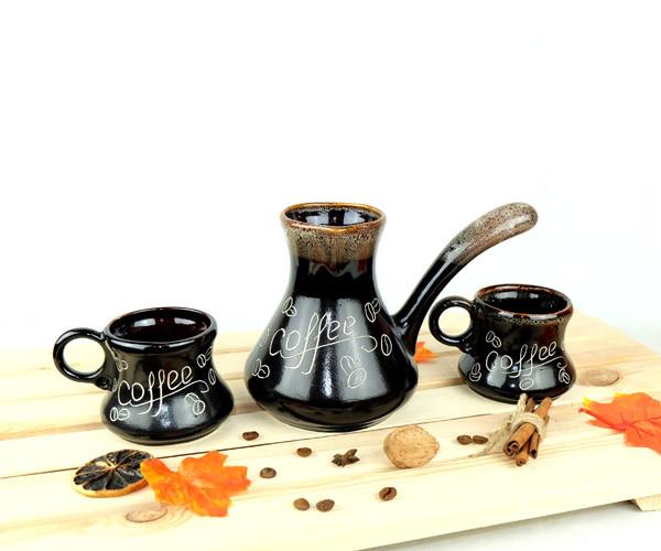 Турка Coffee 500 мл с чашками