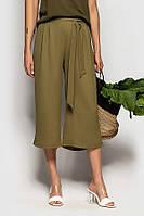 Модные брюки–кюлоты с поясом 49143 (42–48р) в расцветках