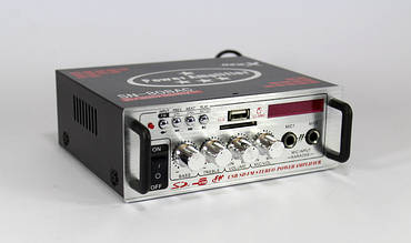 Усилитель мощности звука | Стерео-усилитель | Усилитель звука AMP 808 BT