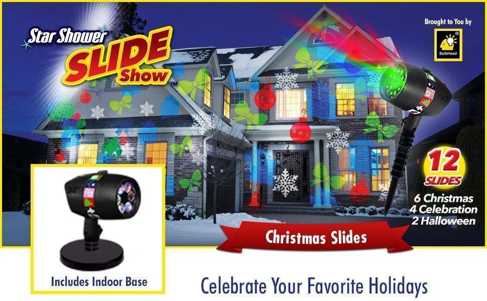 Проектор   Проекторы для дома   Мультимедийный LED проектор Christmas Star shower slide show