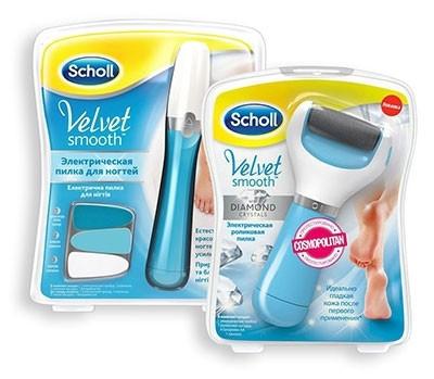Пилка для ногтей рук и ног + Роликовая пилка для огрубевшей кожи стоп  Scholl