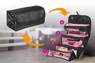 Дорожные косметички | Органайзер для хранения косметики | Косметичка для путешествий Roll N Go Cosmetic Bag