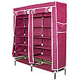 Шкаф для одежды | Шкаф тканевый складной | Тканевый шкаф Danlion Orion YQF-2266, фото 2