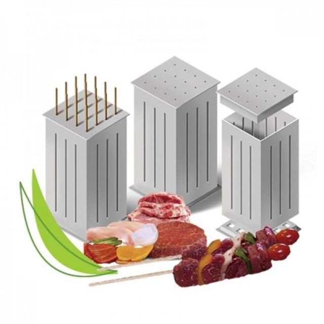 Форма для нарезки мяса и овощей | Приспособление для быстрого нанизывания шашлыка Brochette Express