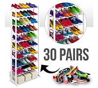Полки для обуви | Органайзер для обуви| Подставка под обувь Amazing Shoe Rack 30 пар