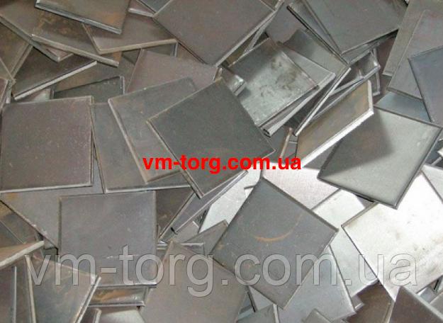 Металлические пластины 100х100х12 мм
