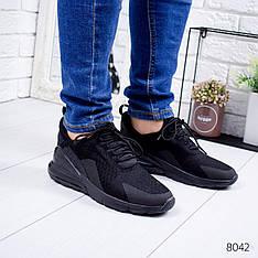 """Кроссовки мужские в стиле """"NIKE"""" черного цвета из текстиля, мокасины мужские, кеды мужские, мужская обувь"""