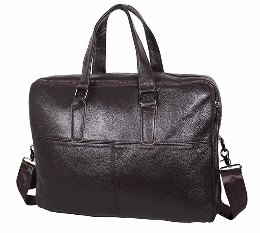 Мужская кожаная сумка Dovhani R1902BROWN-111 Коричневая