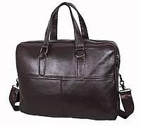 Мужская кожаная сумка Dovhani R1902BROWN-111 Коричневая, фото 1