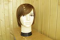 Женский парик из натуральных волос. Каштан.