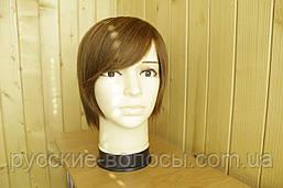 Жіночий парик з натуральних волосся. Каштан.