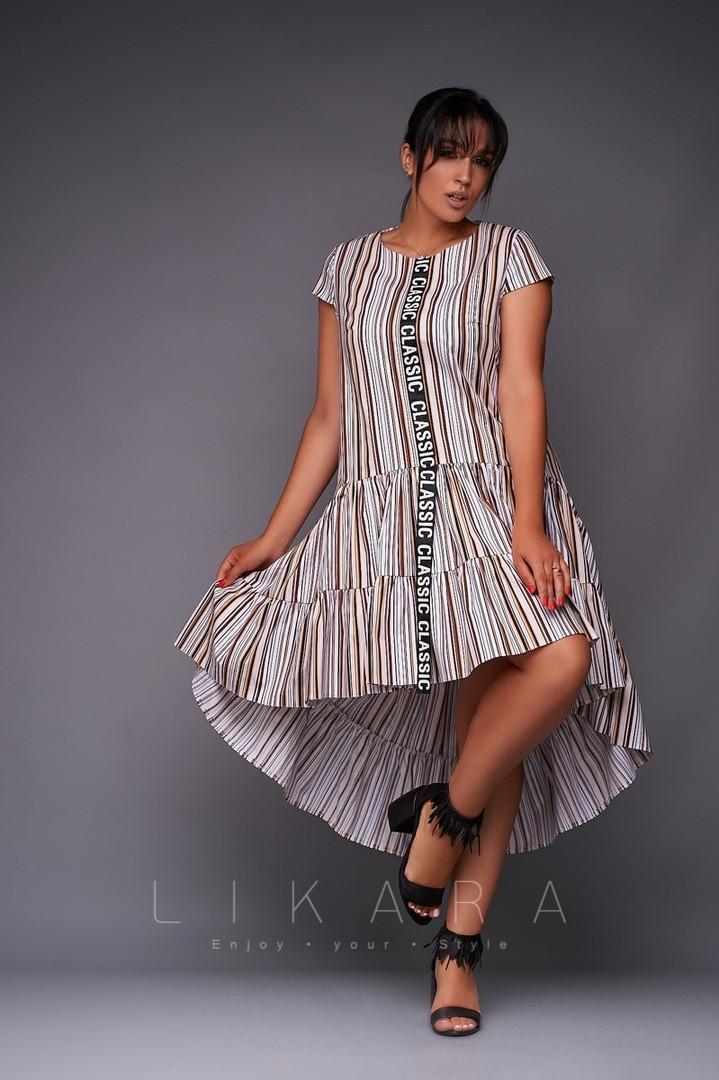 """Платье большого размера Likara / хлопок / Украина 32-865-2: купить оптом и в розницу от производителя, платья женские - интернет-магазин """"Стрекоза"""", 1003322708"""