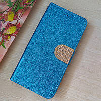 """Чехол для huawei y6 pro (tit-u02) книжка """"Diamond Shine""""(голубой)"""