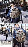 Рюкзак мішковина хакі RRX, фото 9
