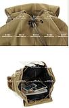 Рюкзак мішковина хакі RRX, фото 6