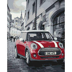 "Картина по номерам ""Mini Cooper"" (автомобиль, машина) 3504"