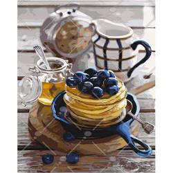 """Картина по номерам """"Сладкий аромат"""" (десерт, натюрморт, сладости, блинчики)"""