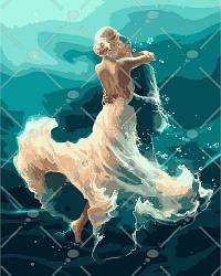 """Картина по номерам """"На волне танца"""" (любовь, чувства, море, танец, мужчина, женщина)"""
