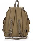 Рюкзак мішковина хакі RRX, фото 3