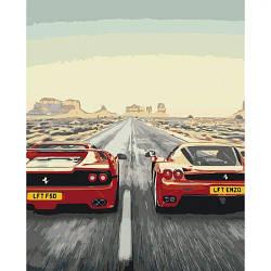 """Картина по номерам """"Адреналин"""" (гонки, мужчине, автомобиль)"""