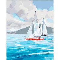 "Картина по номерам ""Мечта путешественника"" (море, корабль, парусник)"