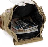 Рюкзак мішковина хакі RRX, фото 4