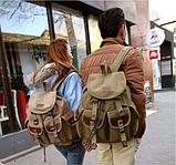 Рюкзак мішковина хакі RRX, фото 5