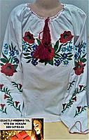 Рубашка вышиванка для девочки подросток волошка 152, 158, 164