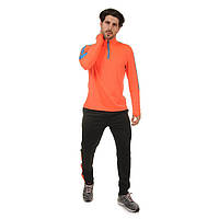 Костюм для тренировок по футболу (полиэстер, р-р L-3XL, оранжевый-голубой-черный)