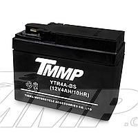 Аккумулятор 12v4a.h. YAMAHA JOG  (таблетка, широкая)   TMMP