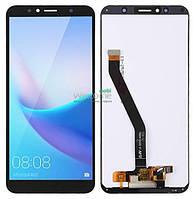 Модуль Huawei Y6 2018/Y6 Prime 2018/Honor 7A Pro/Honor 7C black дисплей экран, сенсор тач скрин хуавей у6, хонор 7а/7с