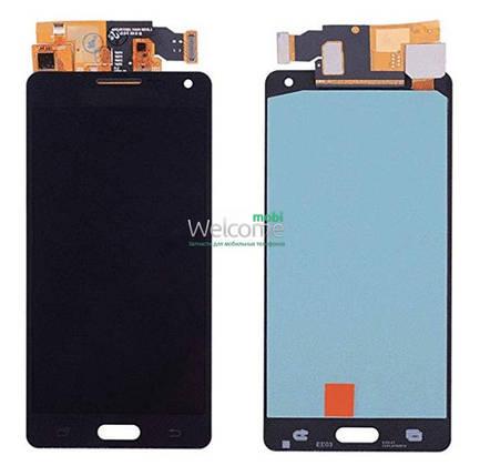 Модуль Samsung SM-A500H Galaxy A5 black с регулируемой подсветкой дисплей экран, сенсор тач скрин самсунг гэлэкси а5, фото 2