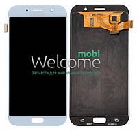 Модуль Samsung SM-A720H Galaxy A7 (2017) blue с регулируемой подсветкой дисплей экран, сенсор тач скрин самсунг гэлэкси а7