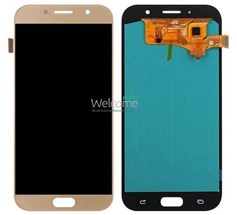 Модуль Samsung SM-A720H Galaxy A7 (2017) gold с регулируемой подсветкой дисплей экран, сенсор тач скрин самсунг гэлэкси а7, фото 2